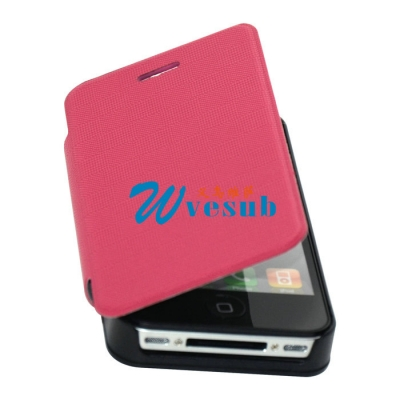 iPhone4/4S Foldable Case-Purple Red