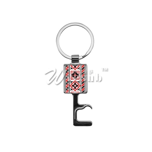 Sublimation Multi-functional Square Zinc Alloy Key Ring