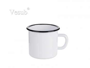 17oz/500ml Enamel Mug with Black Rim