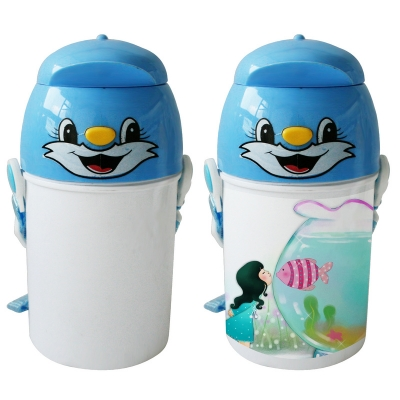 400Ml Sublimation Kid Bottle-Blue