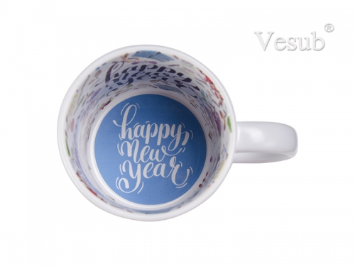 11oz Inside Decal White Mug  (Happy New Year English/Spanish)