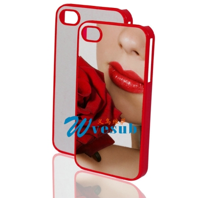 Blank Cover Cases Sublimation Phone Case Sublimation Printing for iPhone 4/4s-Red
