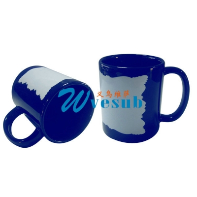 11oz New Sublimation Blue Color Coated Mug