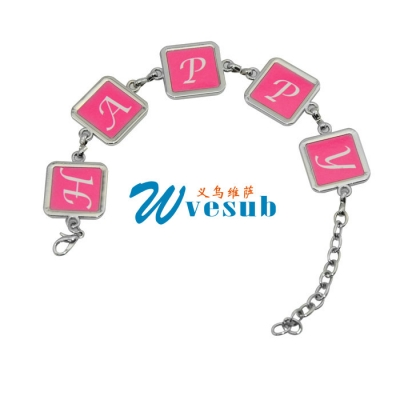 Sublimation Fashion Bracelet-5 pcs diamonds