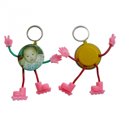 φ44mm cartoon Key Ring Button