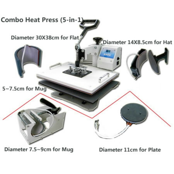 Combo Heat Press (5-in-1)