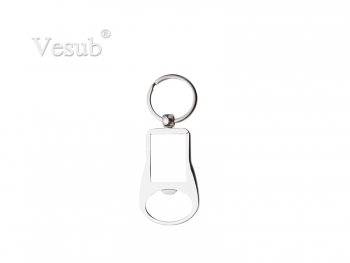 Square Bottle Opener Keyring