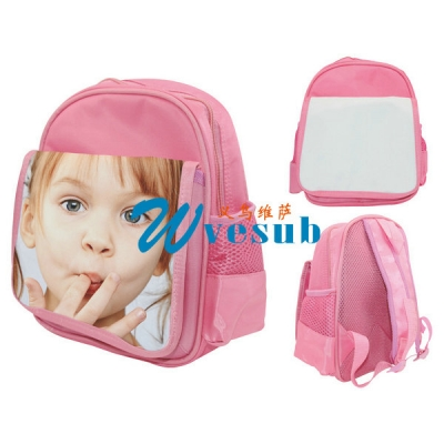 Dye Sublimation Pink Color Kid School Bag