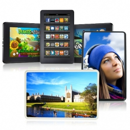 Kindle Fire Plastic Cover-Black