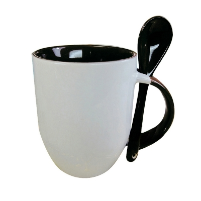 11oz Spoon Mug-Black