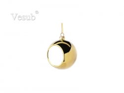 6cm Plastic Christmas Ball Ornament (Gold)