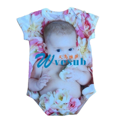 Dye Sublimation 0-3 Month Baby's Onesies Short Sleeve