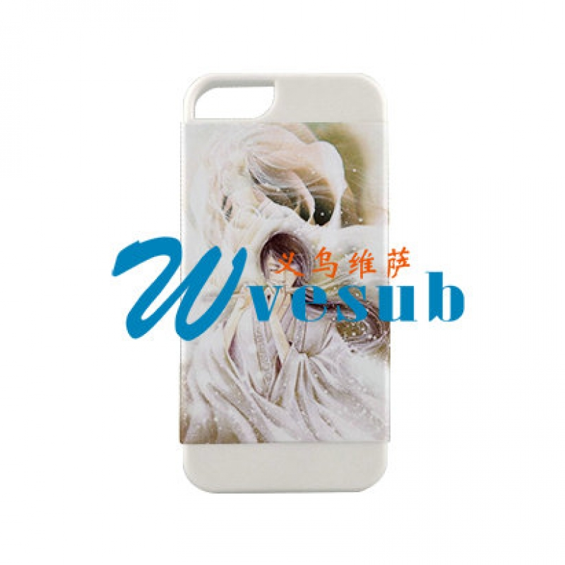 2 in 1 3D iPhone5  Frosted Card Insert Cover-White