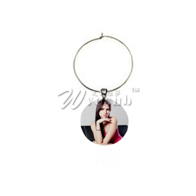 Sublimation 28mm Wine Glass Charm(Round)