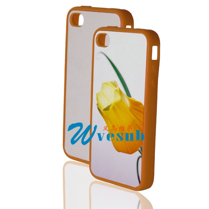 Blank Sublimation Cell Phone Cover for iPhone 4/4s-Orange
