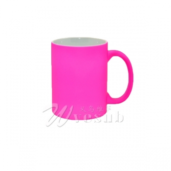 11oz Frosted Full Color Sublimation Mug-Rose