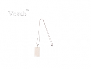 Rectangular Shell Necklace (25*40mm)