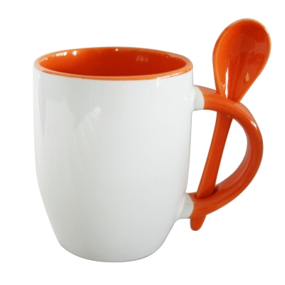 11oz Spoon Mug-Orange