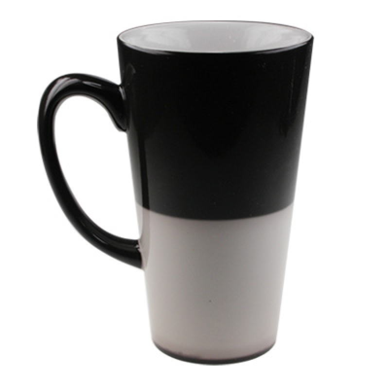 17oz Color Change Cone Mug-Black