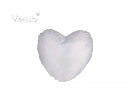 Glitter Heart Shape Pillow Cover (40*40cm,Silver)