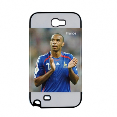 2 in 1 3D Samsung Galaxy Note II Frosted Card Insert Black Cover
